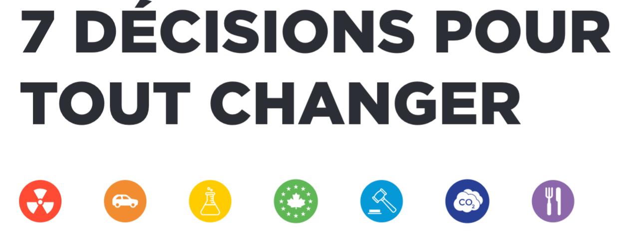 7 décisions pour tout changer