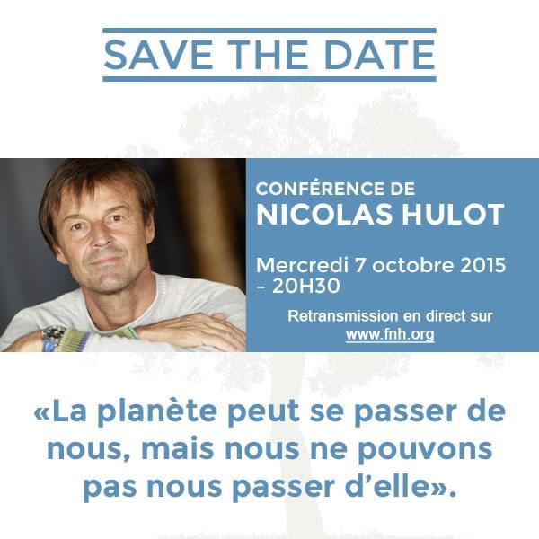 Invitation conférence de Nicolas Hulot
