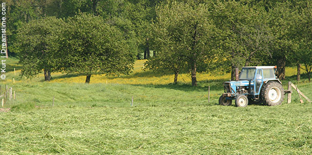 Tracteur dans un champs