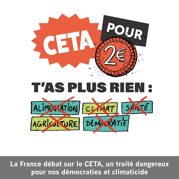 Mobilisation contre CETA
