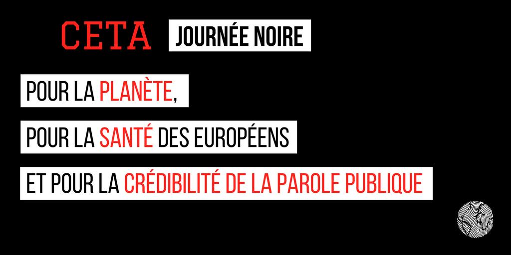 CETA journée noire