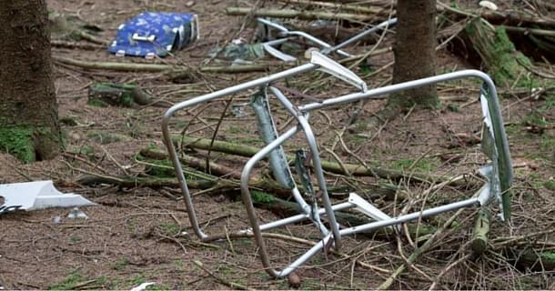 déchets dans la nature