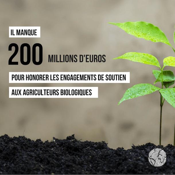 manque des subventions à l'agriculture bio
