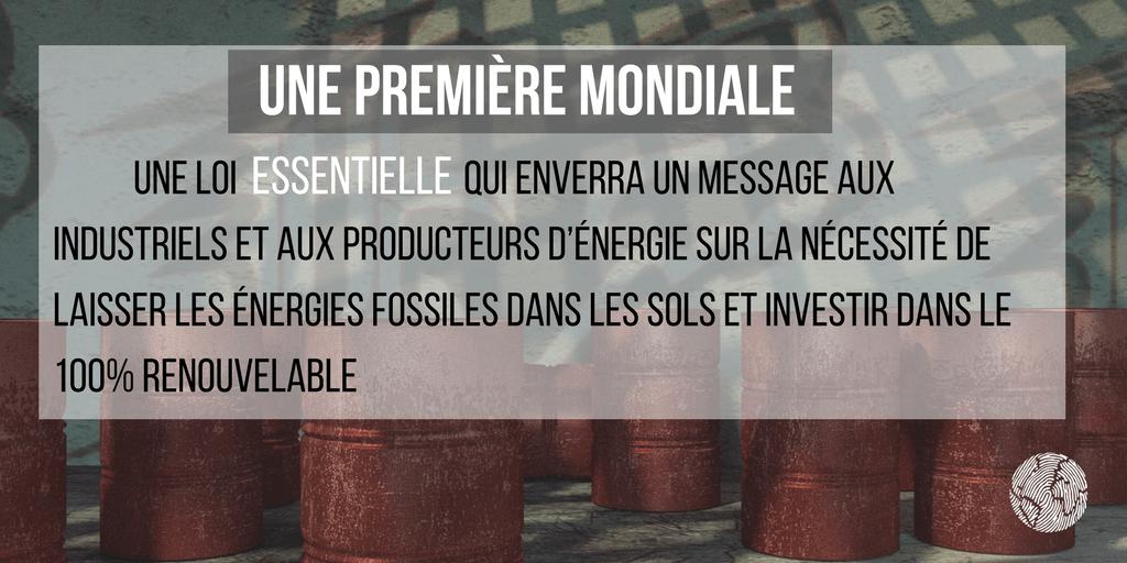 loi hydrocarbure une première mondiale