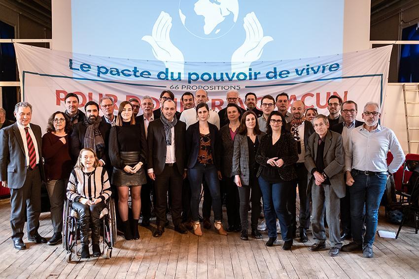 55 organisations du Pacte du pouvoir de vivre