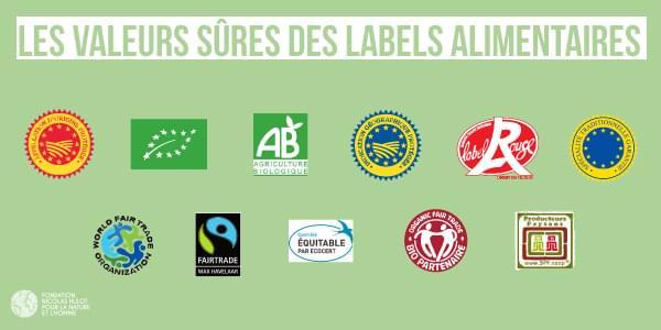 Choisir les labels pour faire ses courses